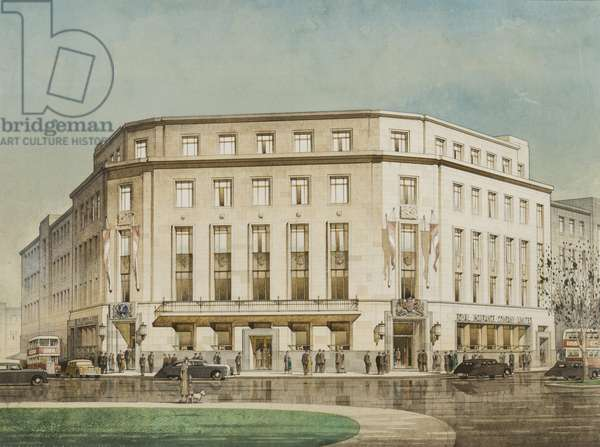 The Royal Insurance Company, Plymouth, designed by design by Thomas Smith Tait, 1949 (pencil, w/c & gouache on paper)