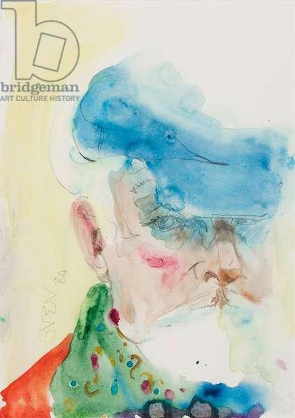 Self-portrait, 1965 (pencil & w/c on paper)