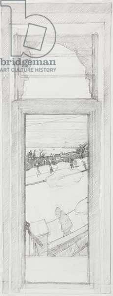 Estuary Window Sketch, c.1976-79 (pencil on paper)