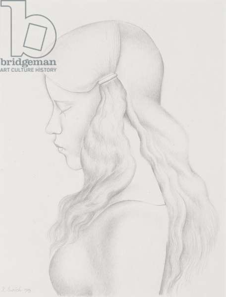 Head of a Girl, 1929 (pencil on paper)