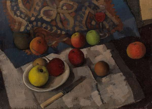 Still Life with Apple and Butter Knife, c.1945 (oil on canvas)