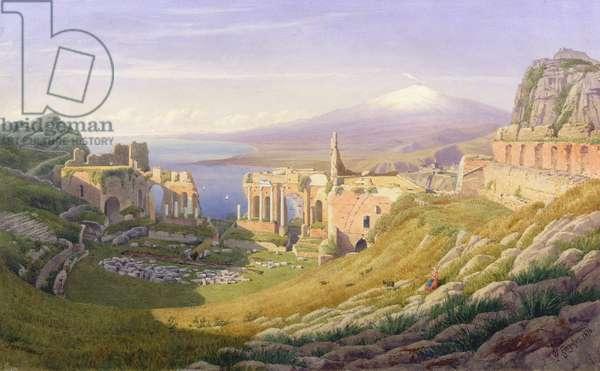 Taormina, Sicily, 1876 (w/c on paper)