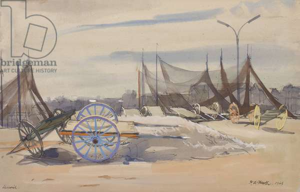 Lesconil, Brittany, 1965 (ink, w/c & gouache on paper)