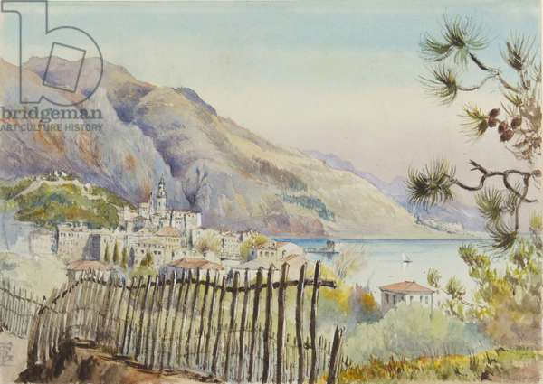 Mentone, looking East, 5th March 1878 (w/c on paper)