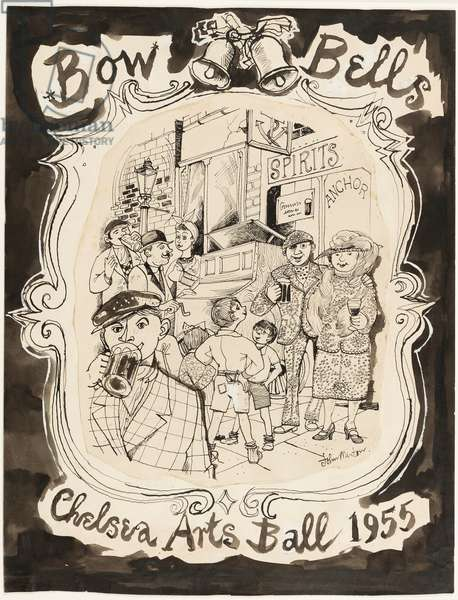Bow Bells, 1955 (pen, brush & ink on paper)