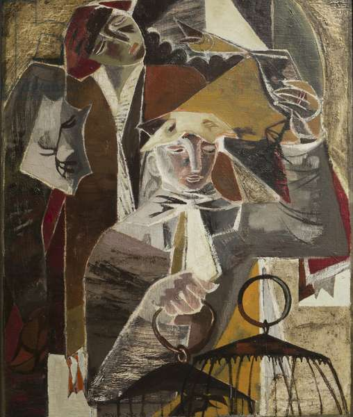 The Bird Sellers, 1940 (oil on card)