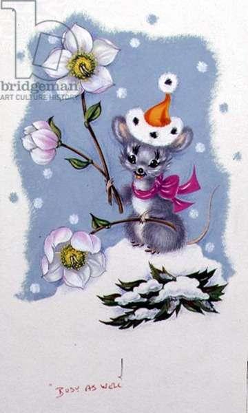 Mouse Christmas, c.1995 (gouache on paper)