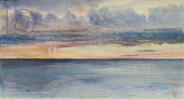 San Remo: sunrise, 7.30 a.m. 7th December, 1877 (w/c on paper)