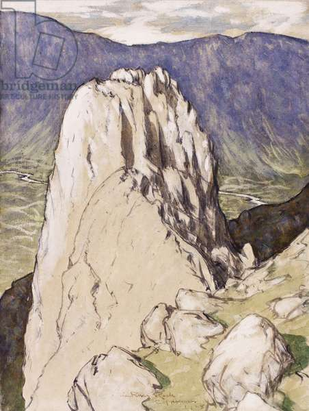 The Pillar Rock, 1928 (ink, w/c & gouache on paper)