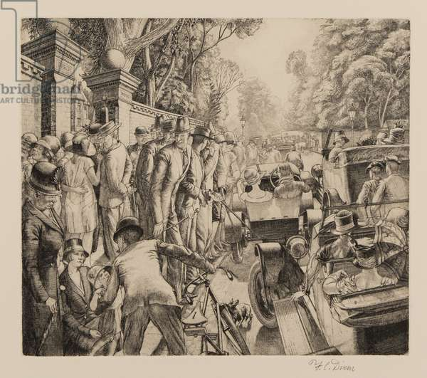 Putney Hill, 1925 (etching)