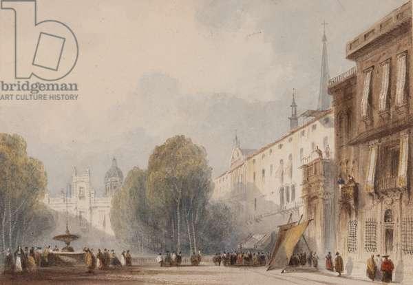 Spanish Square (w/c on paper)