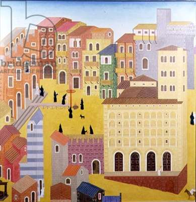 Quattrocento Italy, c.1972 (oil on canvas)
