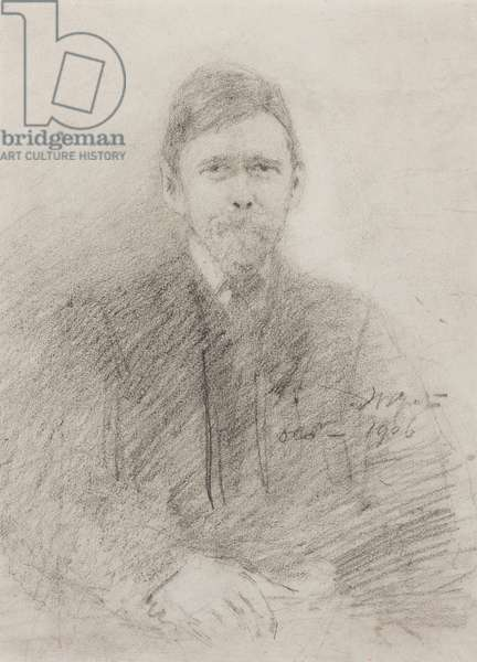 Stephen Lucius Gwynne, October 1906 (pencil on paper)