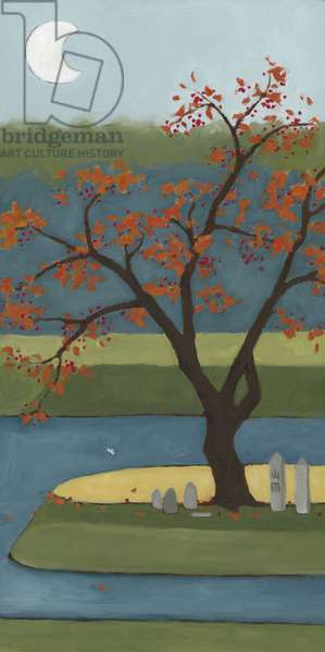 Winter Tree, Autumn, 2013 (oil on wood panel)