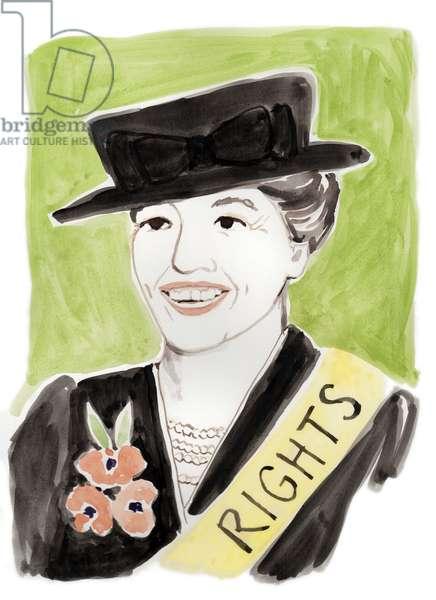 Eleanore Roosevelt, 2018 (watercolor)