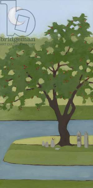 Cherry Tree, Summer, 2013, (oil on wood panel)