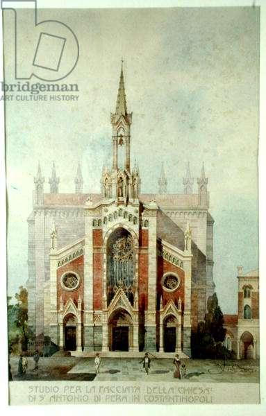 Church of St. Anthony of Padua, Beyoglu, Istanbul (w/c on paper)