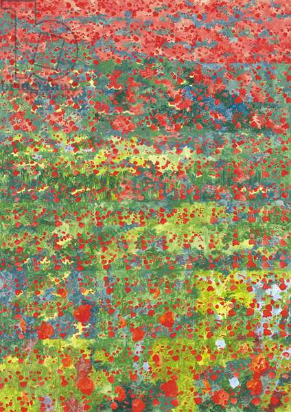 Poppies, 2012, (oil on canvas)