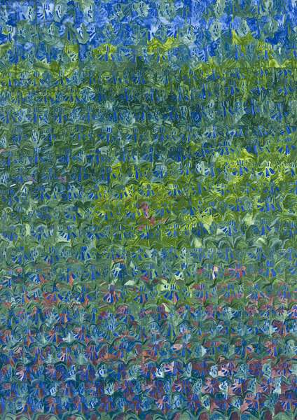 Bluebells, 2012, (oil on canvas)