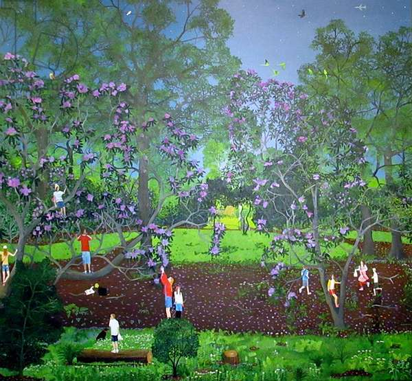 Secret Garden in Twilight, 2014 (oil on linen)
