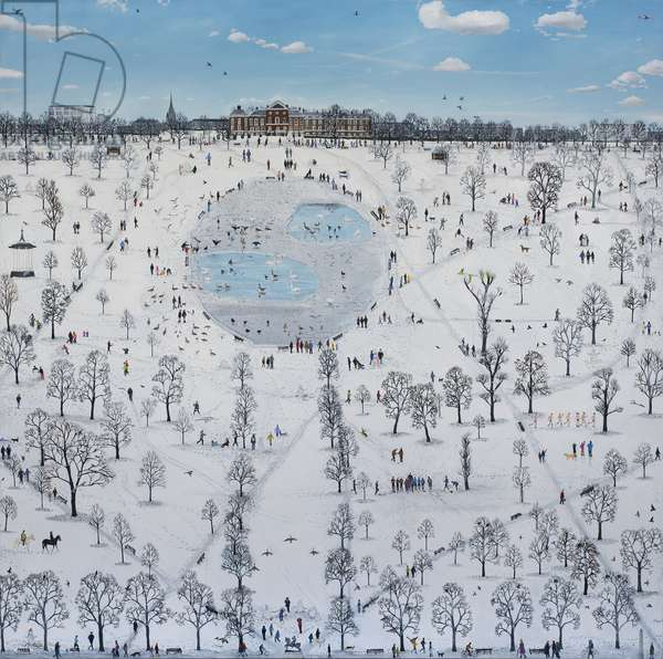 Kensington Gardens Snow, 2015, (oil on linen)