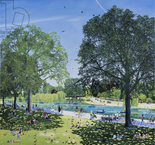 Summer Park, 2018,( Oil on polyester)