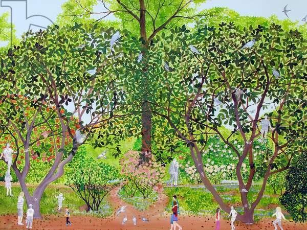 Secret Garden I,2014, w/c