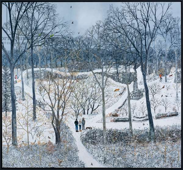 Winter woodland, 2020, (oil on canvas)