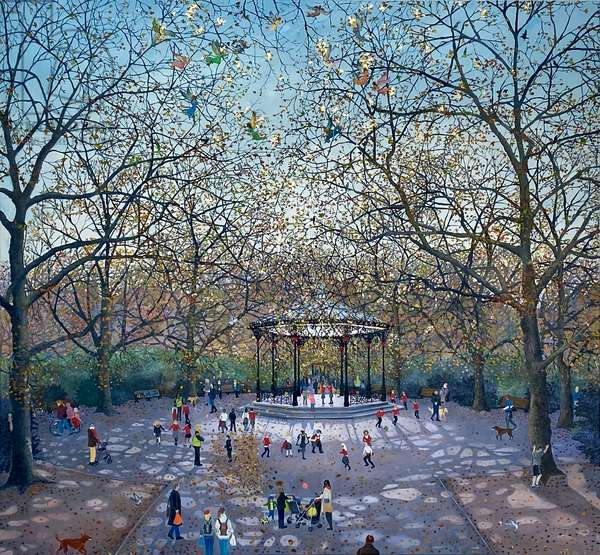 Bandstand, 2021 (oil on canvas)