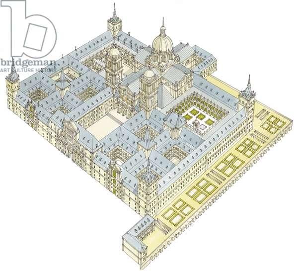 Monastery of San Lorenzo El Real de El Escorial. Spain