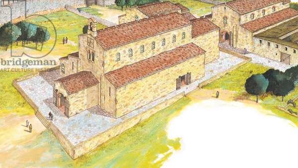 Santiago de Compostela, 9th century Shrine. Reconstruction. Spain