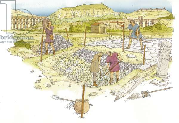 Roman road. Detail