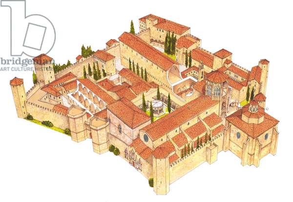 Poblet Monastery. Catalonia, Spain