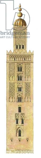 Islamic Minaret. Sevilla Cathedral, Spain. Reconstruction