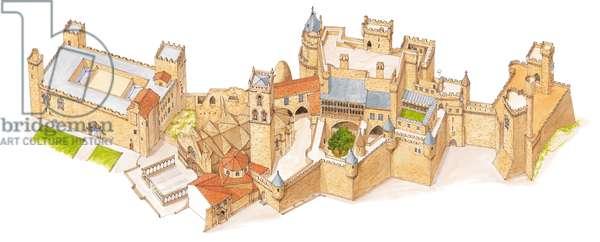 Olite Castle. Navarra, Spain