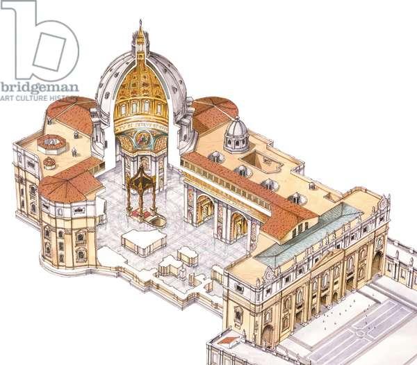 St. Peter's Basilica. Vatican City, Rome. Italy
