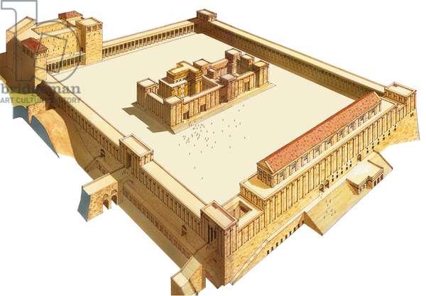 Temple in Jerusalem. Herod's Temple