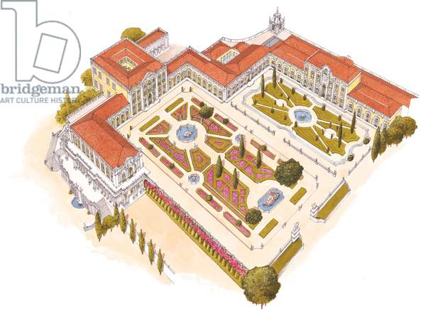 Queluz National Palace. Lisboa, Portugal
