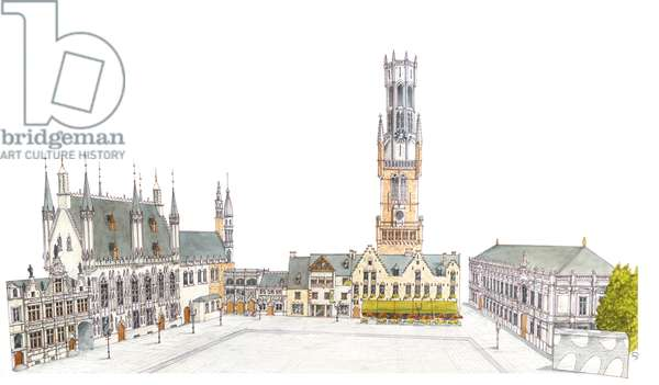 Burg Square. Bruges, Belgium.