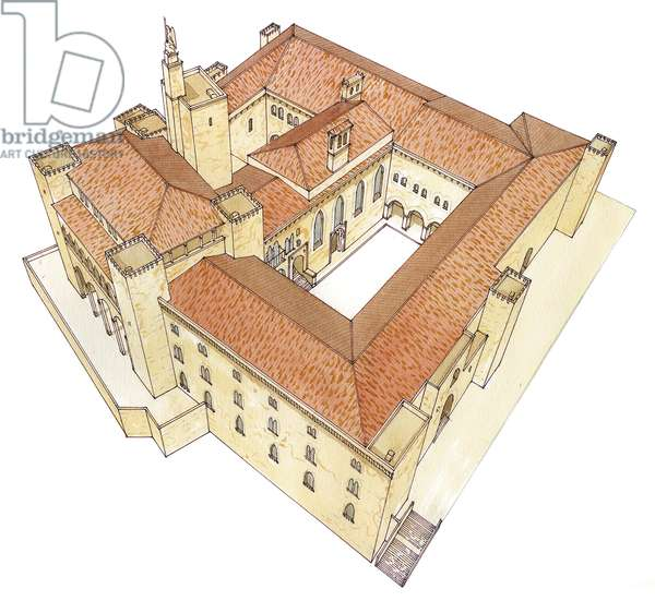 Almudaina Royal Palace. Palma de Mallorca, Spain