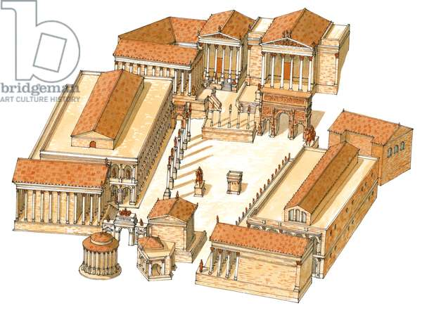 Imperial Forum. Rome. Aerial view