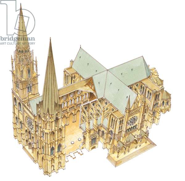 Chartres Cathedral. France