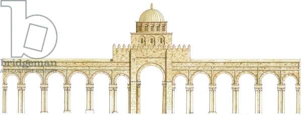 Mosque of Uqba. Kairouan, Tunisia. Main façade
