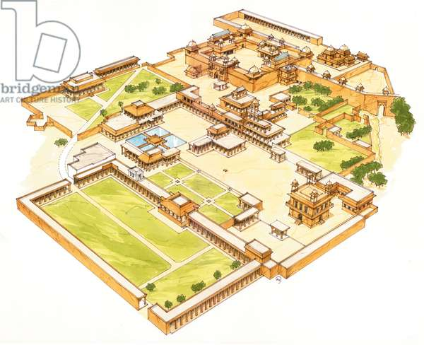 Fatehpur Sikri. Adra. India