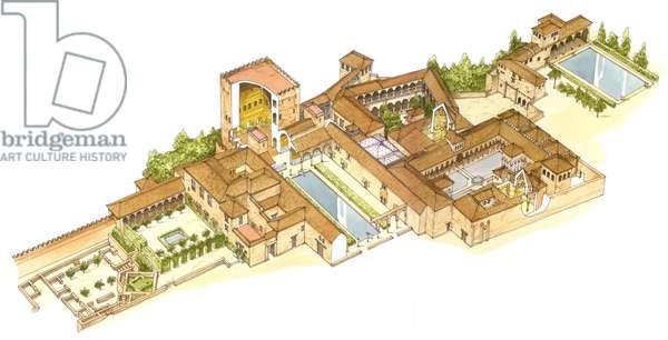 Alhambra, Granada, Spain. Royal palaces