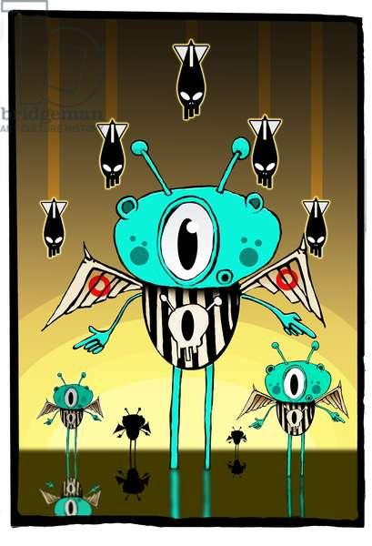 Team alien,2012,(illustration)
