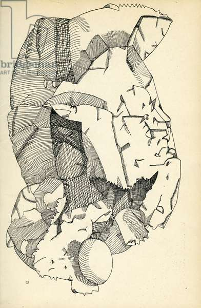 Illustration for 'The Glass Tower', 1944 (pen & ink on paper)