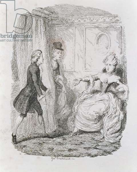 Awkward Situation of Lady Bellaston, from 'Tom Jones, the History of a Foundling', engraved by the artist, illustration from 'The Works of Henry Fielding', pub. by Henry G. Bohn, 1853 (engraving)