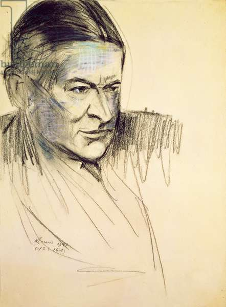 Study for a portrait of T. S. Eliot, 1949 (drawing)