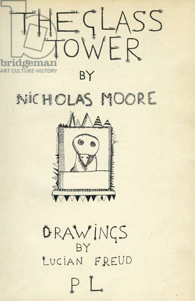 Title page of 'The Glass Tower', 1944 (pen & ink on paper)